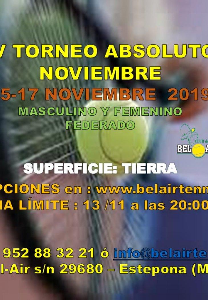 IV TORNEO ABSOLUTO NOVIEMBRE