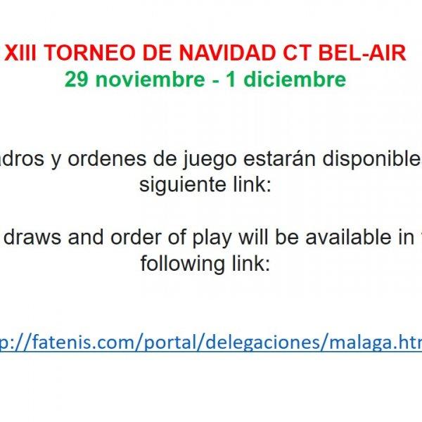 XIII TORNEO DE NAVIDAD CT BEL-AIR
