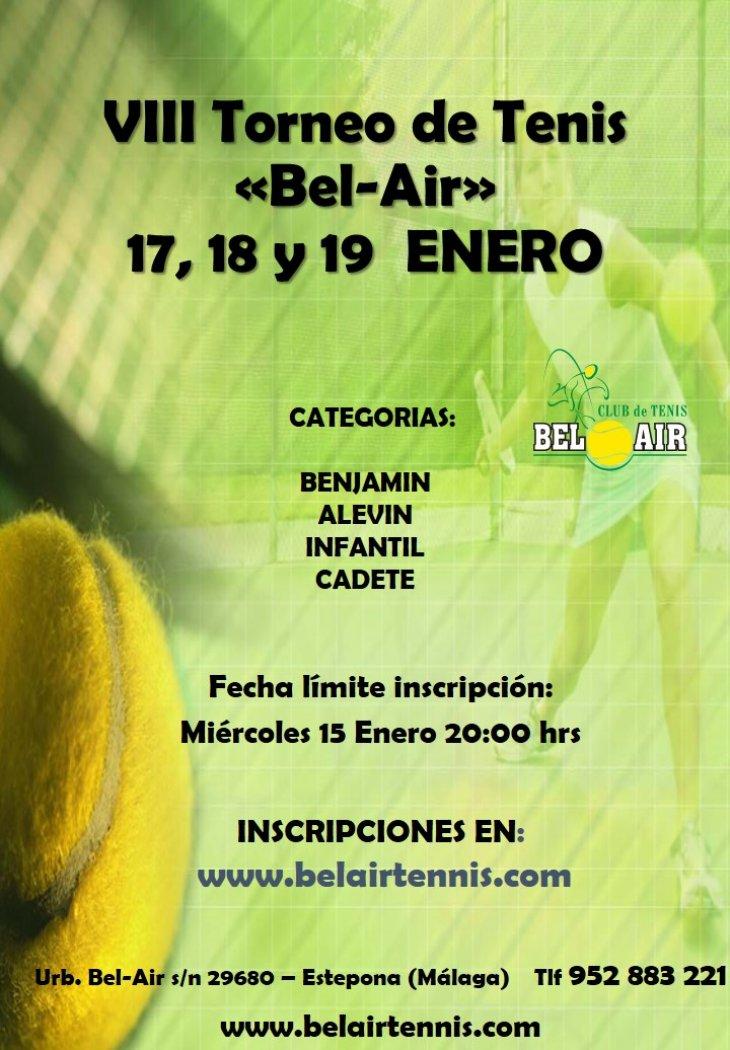 VIII TORNEO DE TENIS 'BEL-AIR'