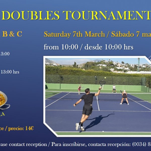 SPRING DOUBLES TOURNAMENT/ TORNEO DE DOBLES DE PRIMAVERA
