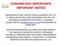 COMUNICADO IMPORTANTE / IMPORTANT NOTICE