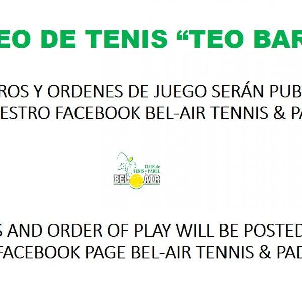 'TEO BARRIO 'TENNIS TOURNAMENT
