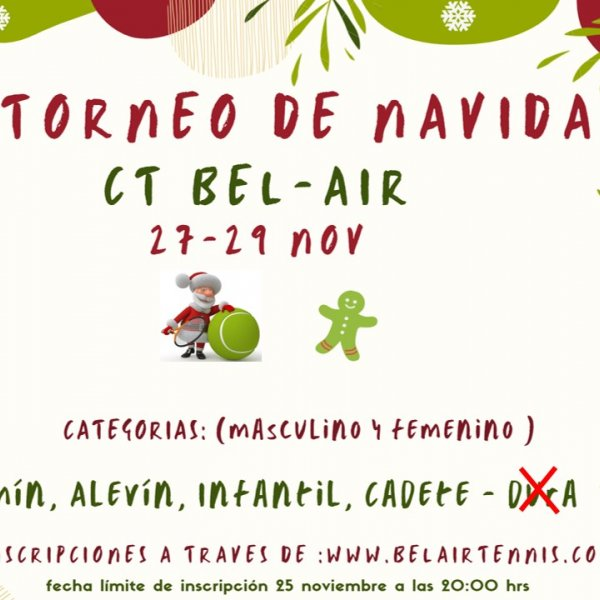 XIV TORNEO DE NAVIDAD CT BEL-AIR