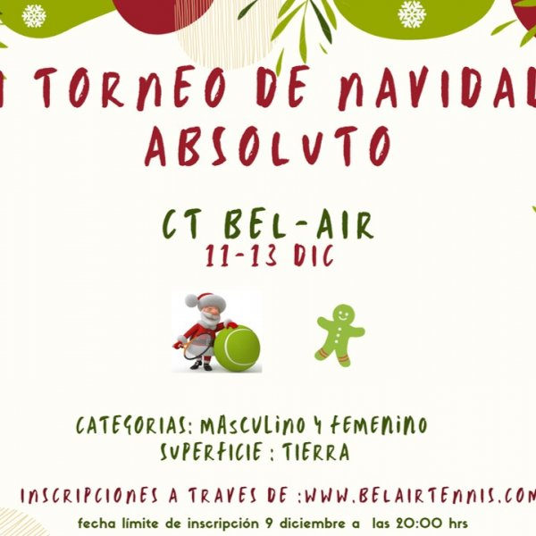 I TORNEO DE NAVIDAD ABSOLUTO CT BEL-AIR