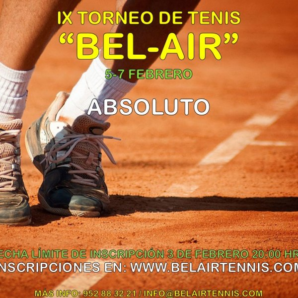 IX TORNEO DE TENIS 'BEL-AIR' ( ABSOLUTO)