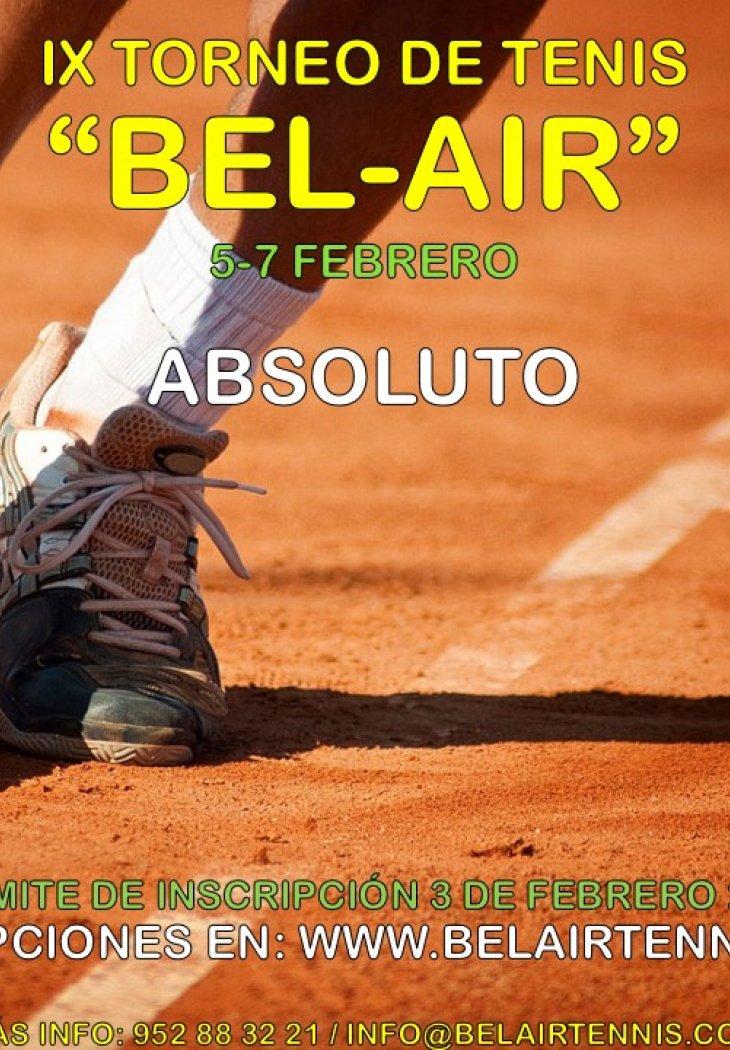 IX TORNEO DE TENIS 'BEL-AIR' ( ABSOLUTO)