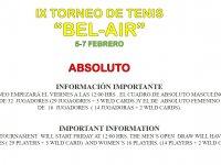 IX TORNEO ABSOLUTO ' BEL-AIR'