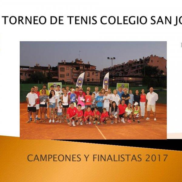 CAMPEONES Y FINALISTAS XXX TORNEO DE TENIS COLEGIO SAN JOSÉ