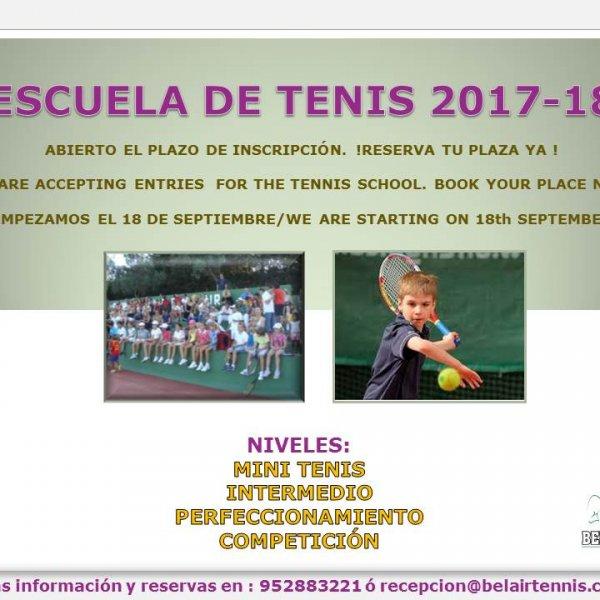 ESCUELA DE TENIS 2017-18