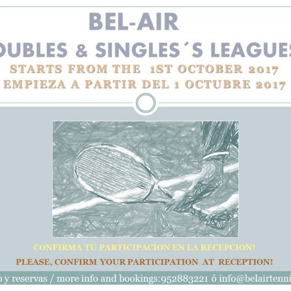 DOUBLES & SINGLES´S LEAGUES
