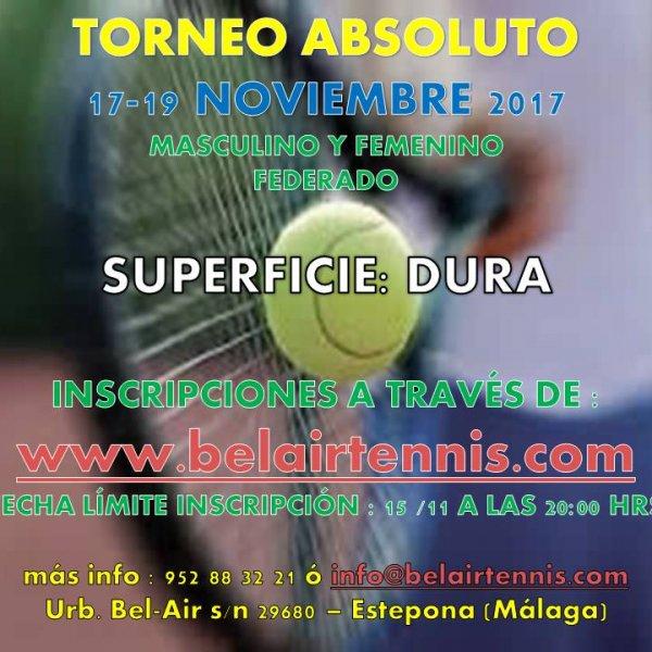 TORNEO ABSOLUTO 17-19 NOVIEMBRE