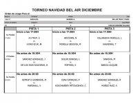 XI TORNEO DE NAVIDAD C.T BEL-AIR