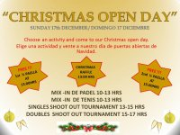 'CHRISTMAS OPEN DAY'