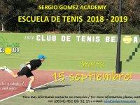 ESCUELA DE TENIS DE NIÑOS 2018-19