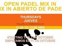 MIX IN ABIERTO DE PADEL / OPEN PADEL MIX IN