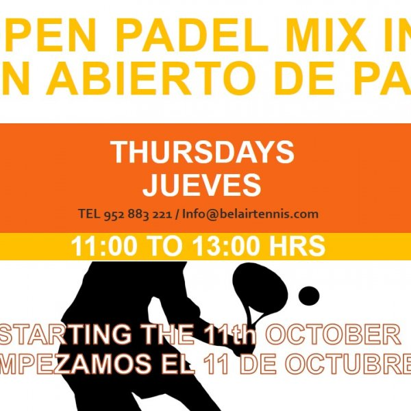 MIX IN ABIERTO DE PADEL / OPEN PADEL MIX IN