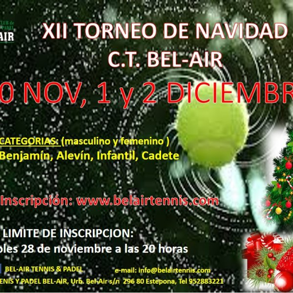 XII TORNEO DE NAVIDAD