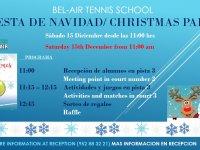 FIESTA DE NAVIDAD ESCUELA DE TENIS /  TENNIS SCHOOL CHRISTMAS PARTY