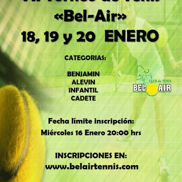 VII TORNEO DE TENIS 'BEL-AIR'