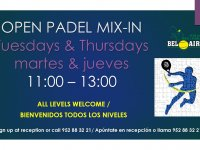 OPEN PADEL MIX IN - MIX IN DE PADEL ABIERTO