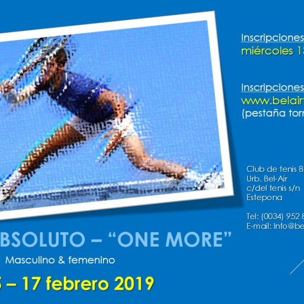 TORNEO ABSOLUTO ' ONE MORE'