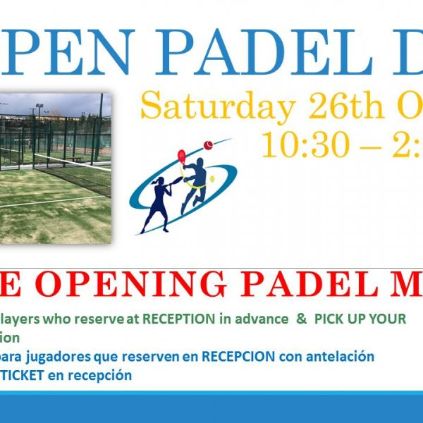 OPEN PADEL DAY